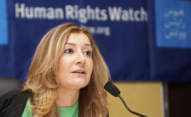 Sarah Leah Whitson, executive director for Middle East and North Africa at Human Rights Watch.
