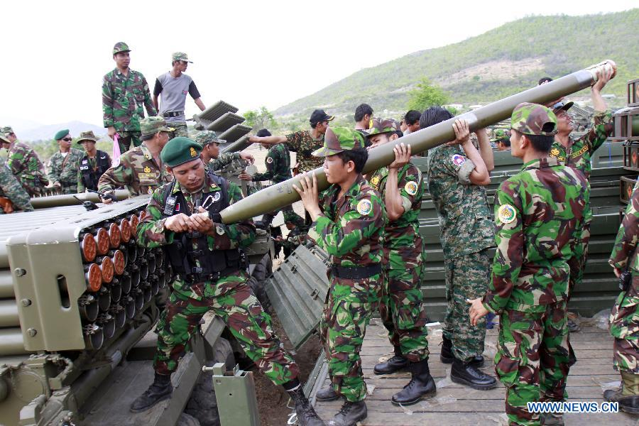 The Cambodian armed forces.