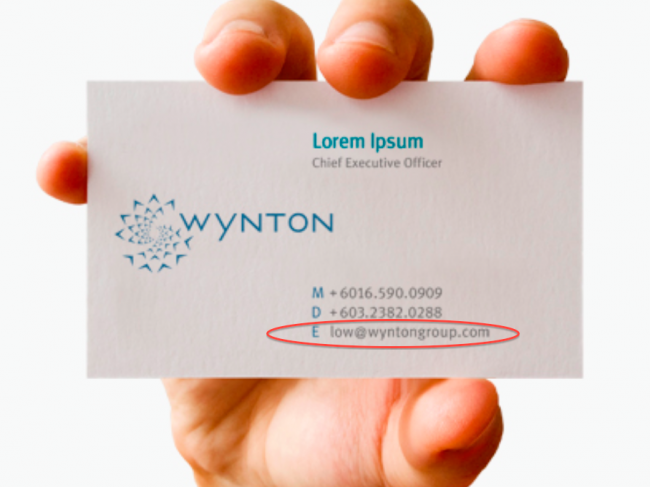 Jho Low's business card was advertised by his printer!