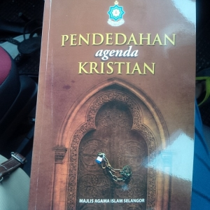 The book titled 'Pendedahan Agenda Kristian' warns Muslims to watch out for tricks by Christians to sway them from their faith.