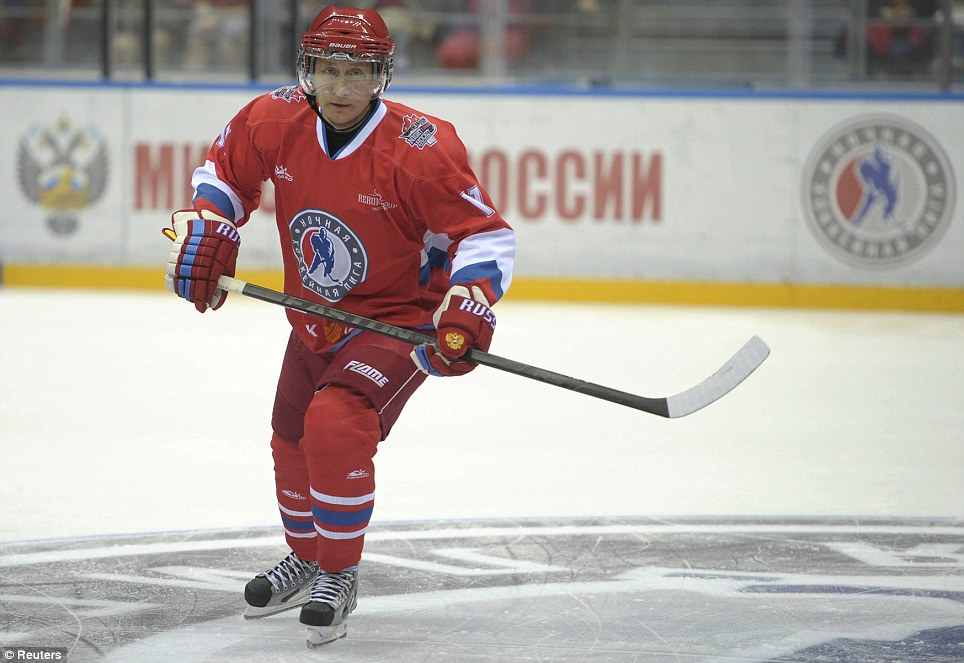 Vladimir Putin triumphed in a game of ice hockey in Sochi