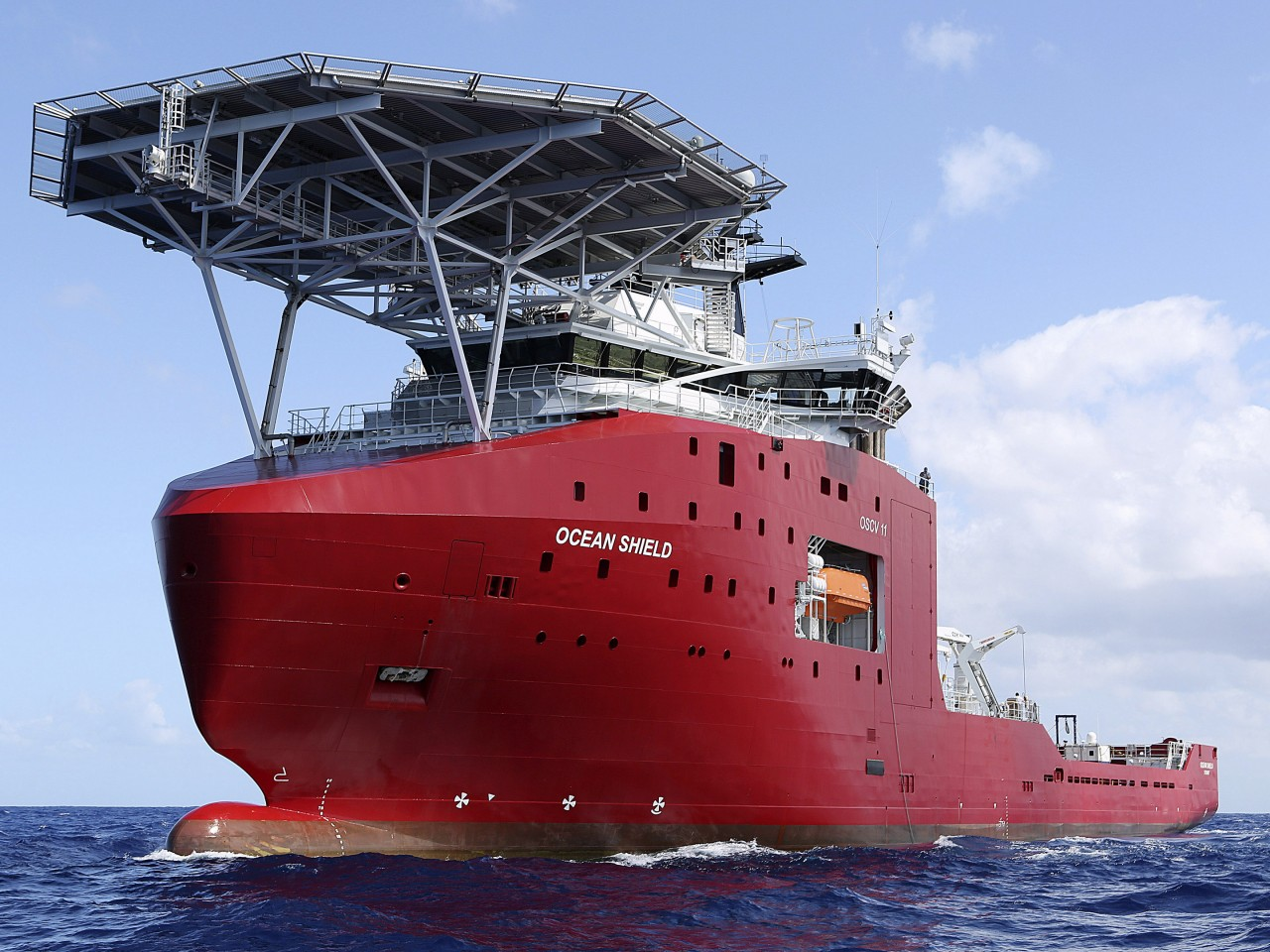 In this April 4, 2014, photo provided by the Australian Defence Force, the Australian Defence vessel Ocean Shield tows a pinger locator in the first search for the missing flight data recorder and cockpit voice recorder in the southern Indian Ocean. Ocean Shield, which is carrying high-tech sound detectors from the U.S. Navy, was investigating a sound it picked up.
