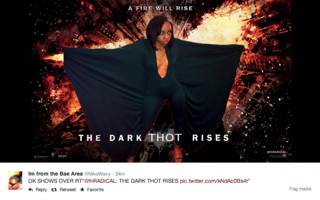 Alexis Carter photoshopped into an image with the header 'The Dark Thot Rises'.