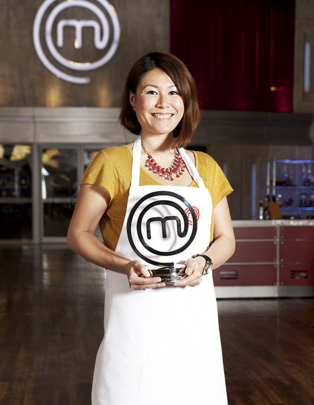 Proud of her Malaysian culinary heritage, Catherine Chin Wang Ping Coombes poses with her MasterChef UK 2014 trophy.