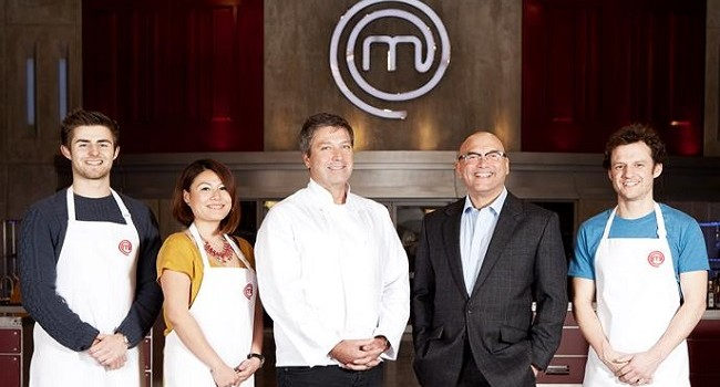 Wan Ping Coombes (second from left) won the UK Masterchef 2014 title last night, beating two other finallists, Luke Owen and Jack Lucas.