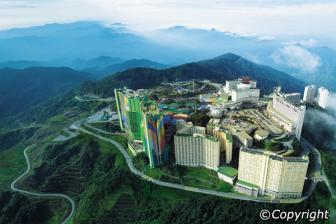 A view of the highway leading up and down Genting Highlands