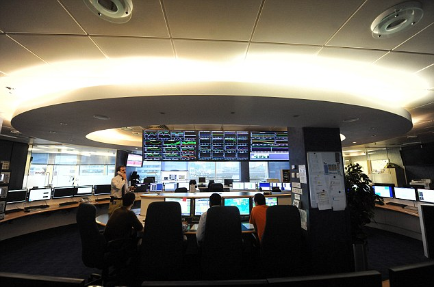 The Inmarsat control room. The British satellite firm's data helped track MH370