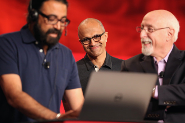 The product was demonstrated in a conference by Microsoft CEO Satya Nadella and Skype chief Gurdeep Singh Pall