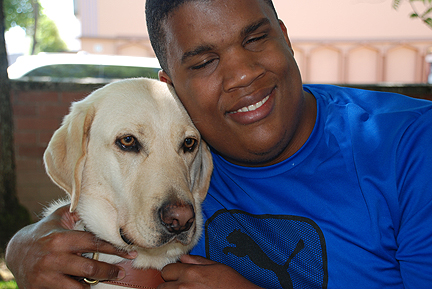 Guide dogs are chosen based on the height of the owners, to ensure that communication will not be affected between the two.
