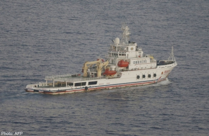 Chinese ship Nan Hai Jiu pictured in the southern Indian Ocean searching for missing Malaysian Airlines flight MH370. The Chinese survey ship Zhu Kezhen, is returning to port for repairs following equipment defect.
