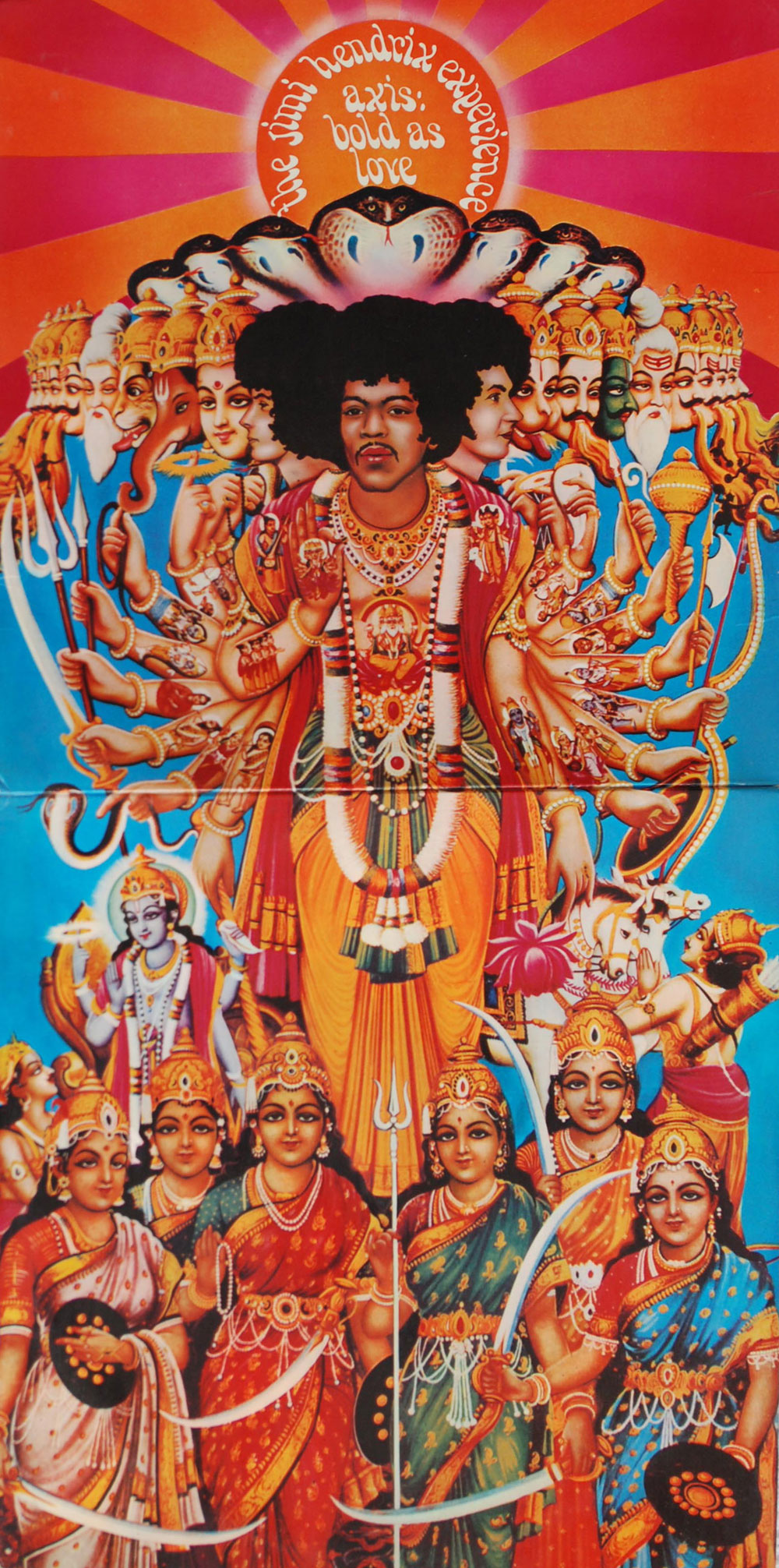 """The Home Ministry Has Banned The Jimi Hendrix 1967 Album """"Axis: Bold As Love"""" Cover Art That Depicts The Rock Singer As Hindu God Lord Vishnu"""