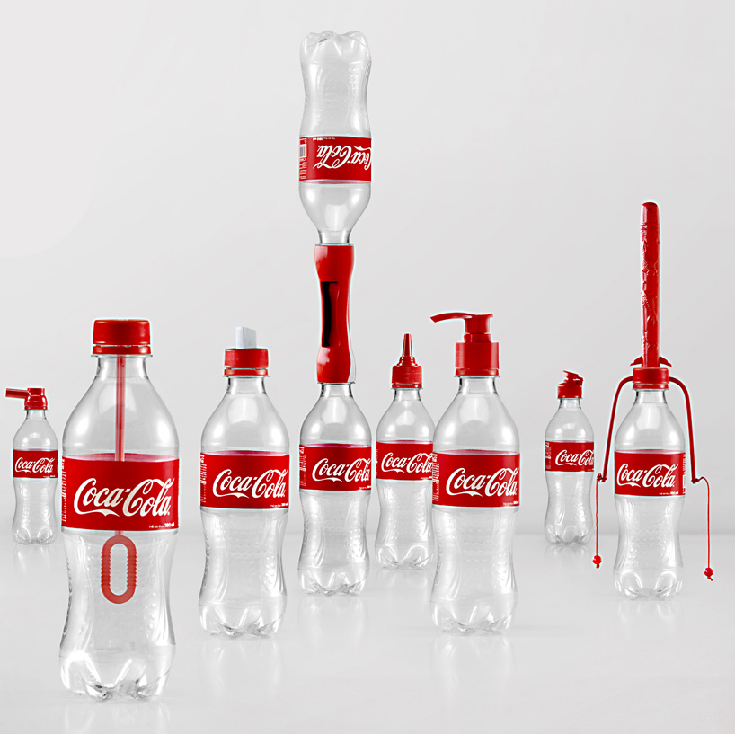 Coca-Cola produced 16 different caps for multi-functional use.