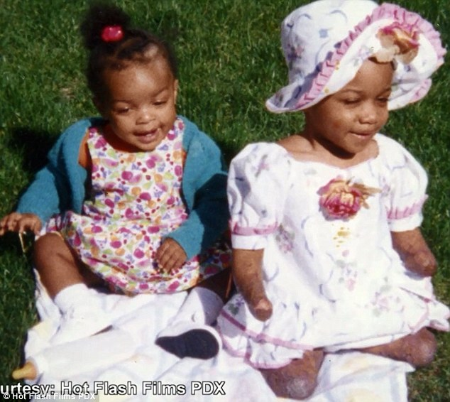 Kiera and her younger half-sister Uriah Boyd (pictured together as babies)