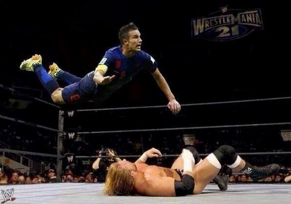 Van Persie, the wrestler