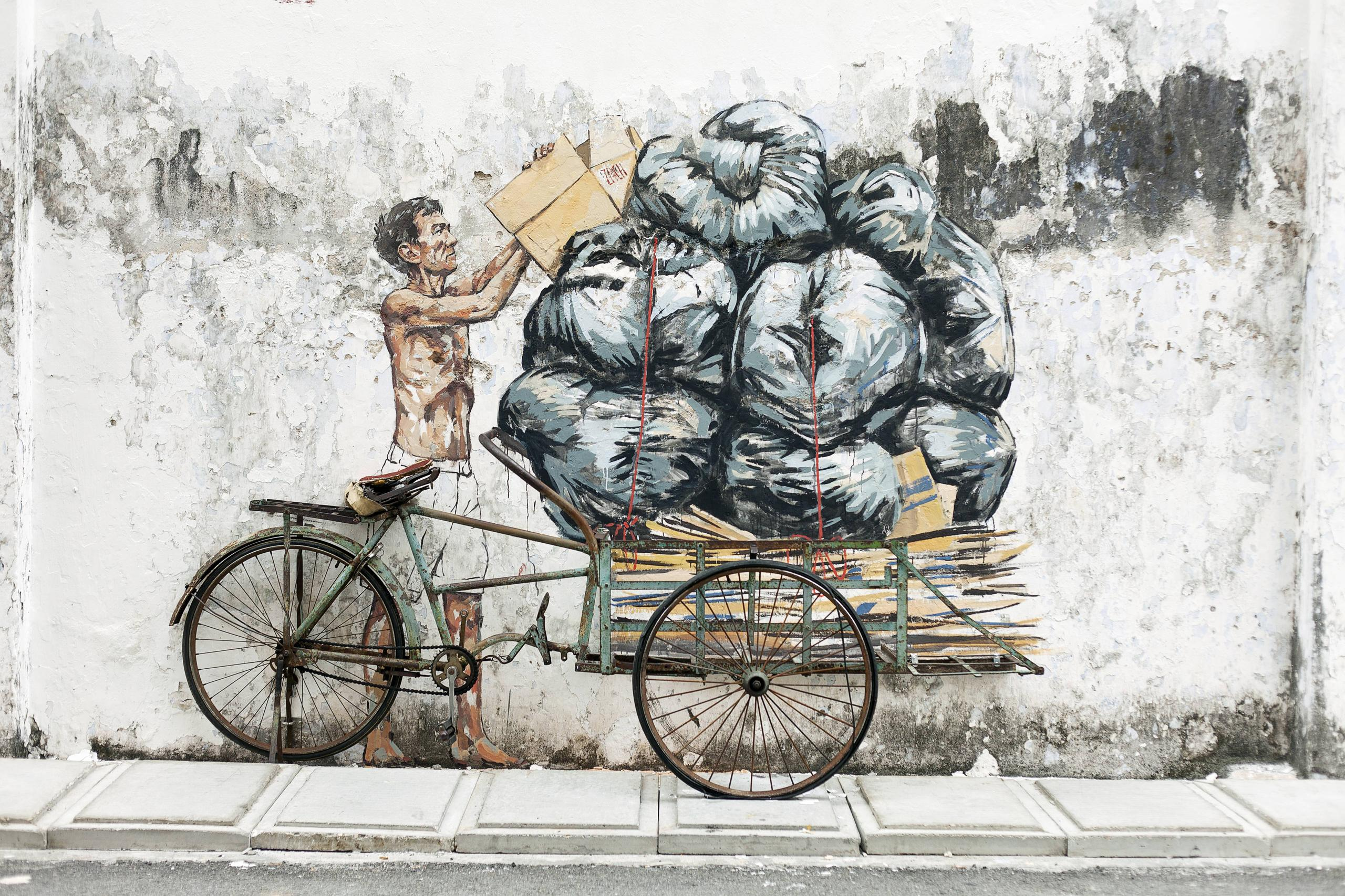 photos video ernest zacharevic on a mission to paint For7 Mural Ipoh