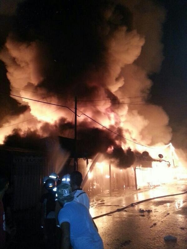 A village in Kunak in Sabah was gutted in fire Sunday morning