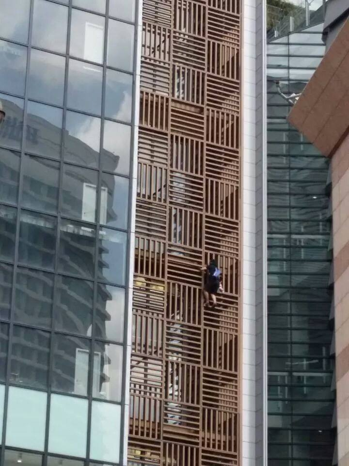 Of all the buildings in Kuala Lumpur, he told SAYS he chose to climb 1 Sentrum because it is a very unique building.