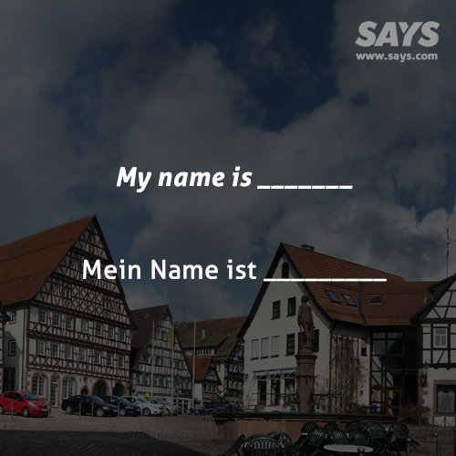 My name is _______