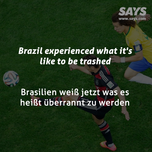 Brazil experienced what it's like to be trashed