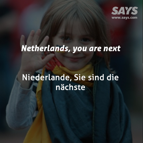 Netherlands, you are next
