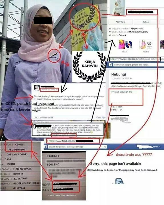 Personal information about Kiki Kamaruddin revealed by Malaysians on social media.