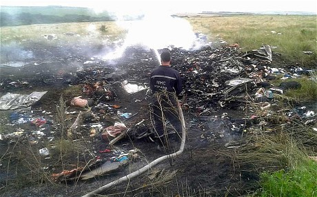 Unconfirmed picture of the possible crash site according to The Telegraph.