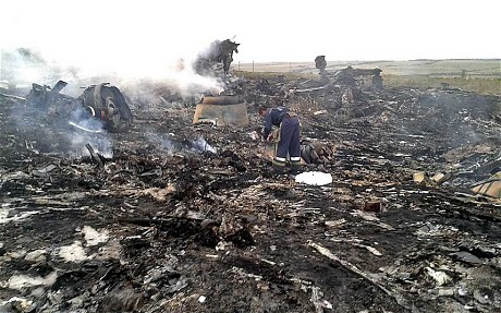Unconfirmed images of the crash site according to The Telegraph.