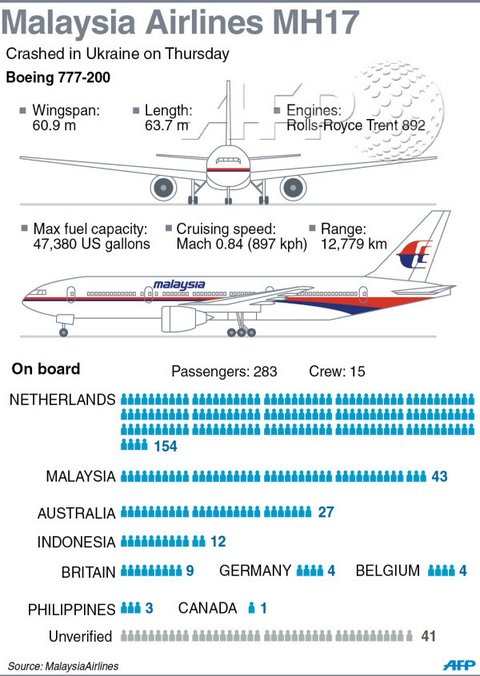 Infographic on MH17 incident