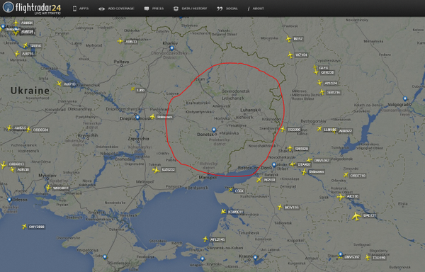 Major Airlines Avoid Ukraine Airspace After Crash of Malaysian Plane.