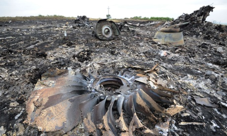 Debris from the plane is strewn over several kilometres