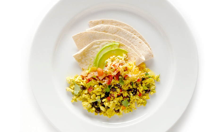 Tofu Scramble With Cotija Cheese And Tortillas Recipe — Dishmaps