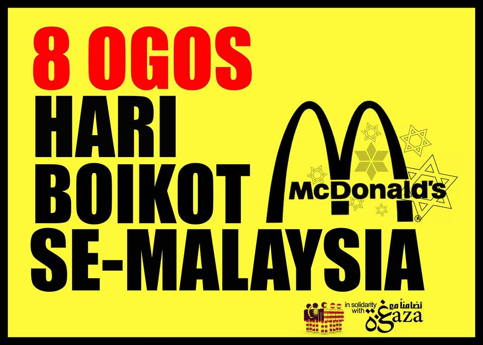"Friday, 8 August 2014, Has Been Chosen As Nationwide ""Boycott McDonald's Day""."