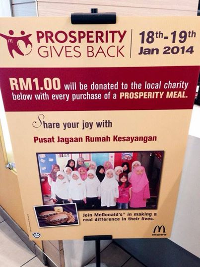 The fast food chain added that it has contributed more than RM11 million to help more than 20,000 children who are less fortunate for over 24 years.