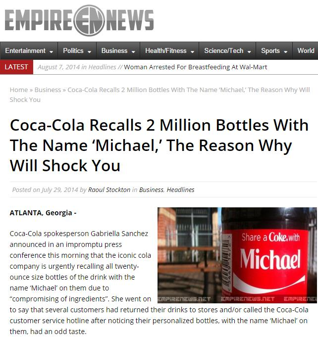 FACT OR FAKE #66] Is Coke Really Recalling Two Million
