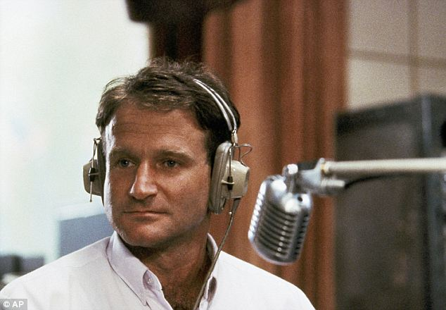 Pictured is a still from Williams' 1978 film Good Morning Vietnam, for which the actor would earn his first Oscar nod