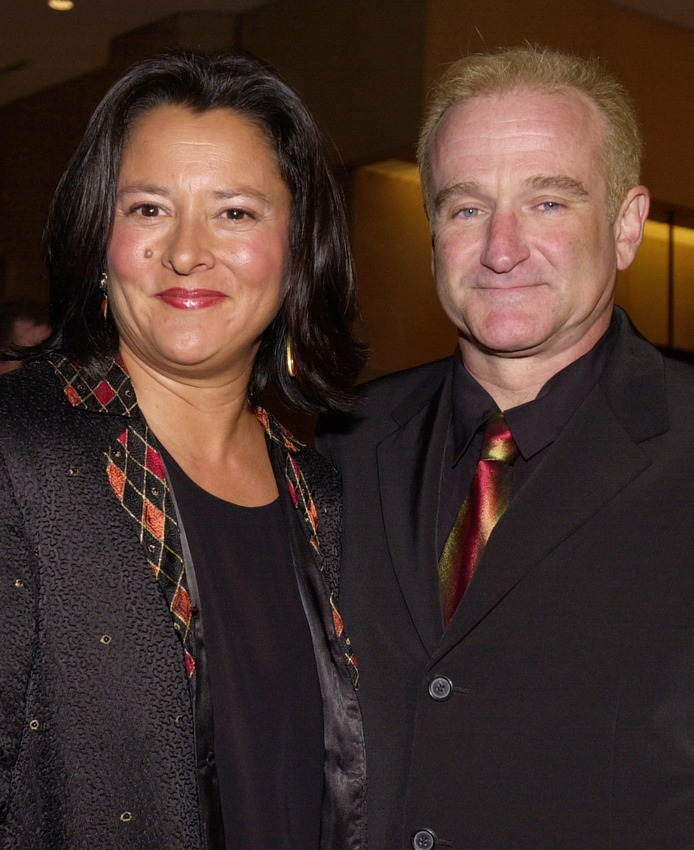 Williams with his second wife Marsha Garces in 2000.