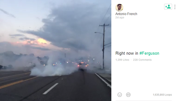 St. Louis Alderman Antonio French has been documenting the protests in Ferguson on the social media platform, Vine.