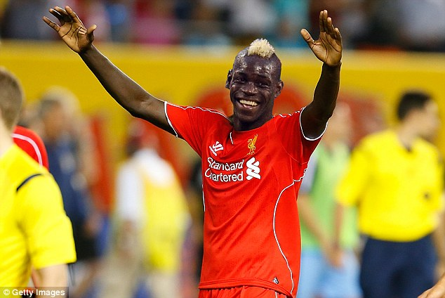 A mock up image of what Mario Balotelli could look like in a Liverpool jersey.
