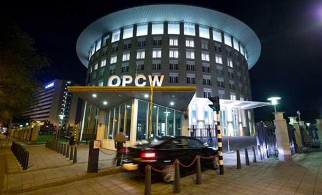 Ibu Pejabat Pertubuhan bagi Pencegahan Senjata Kimia (OPCW) di The Hague, Belanda.