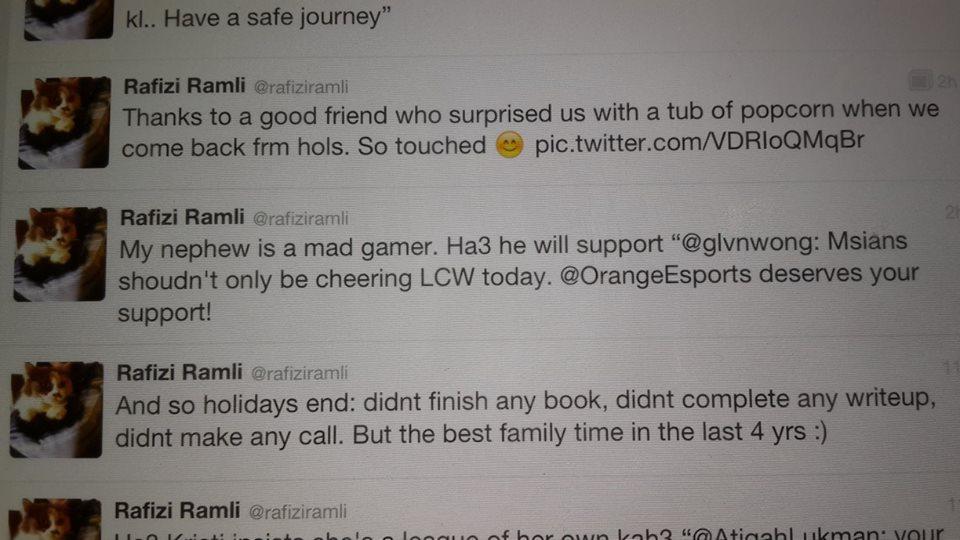 Rafizi Ramli's nephew is a mad gamer.