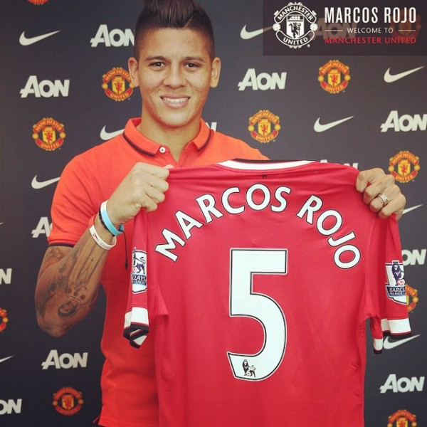 Marcos Rojo arrived for a fee of 16 million pounds.