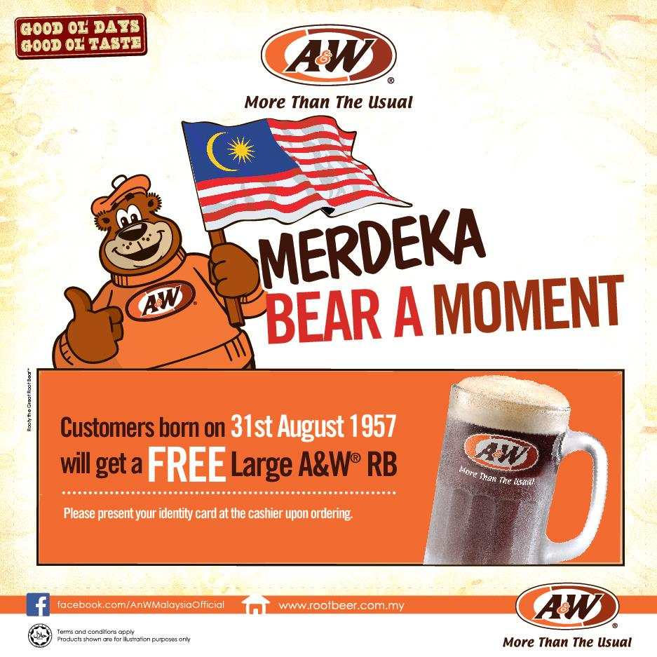 Know anyone born on hari Merdeka in 1957? You deserve a free jug of root beer!