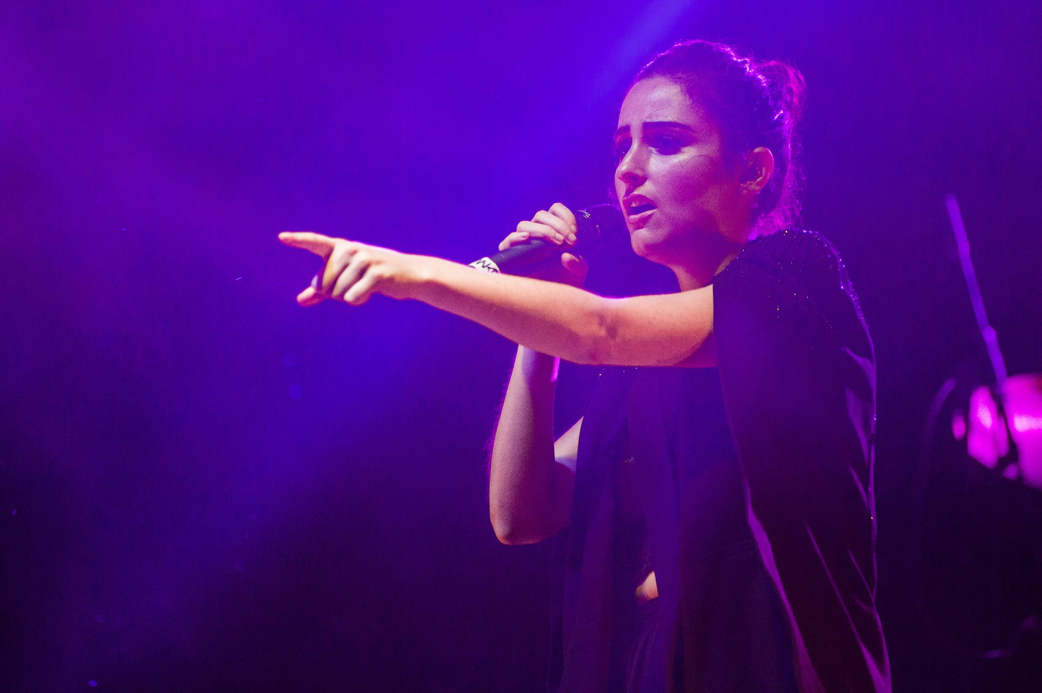 Banks was visibly touched by the support of the crowd by the end of her set.