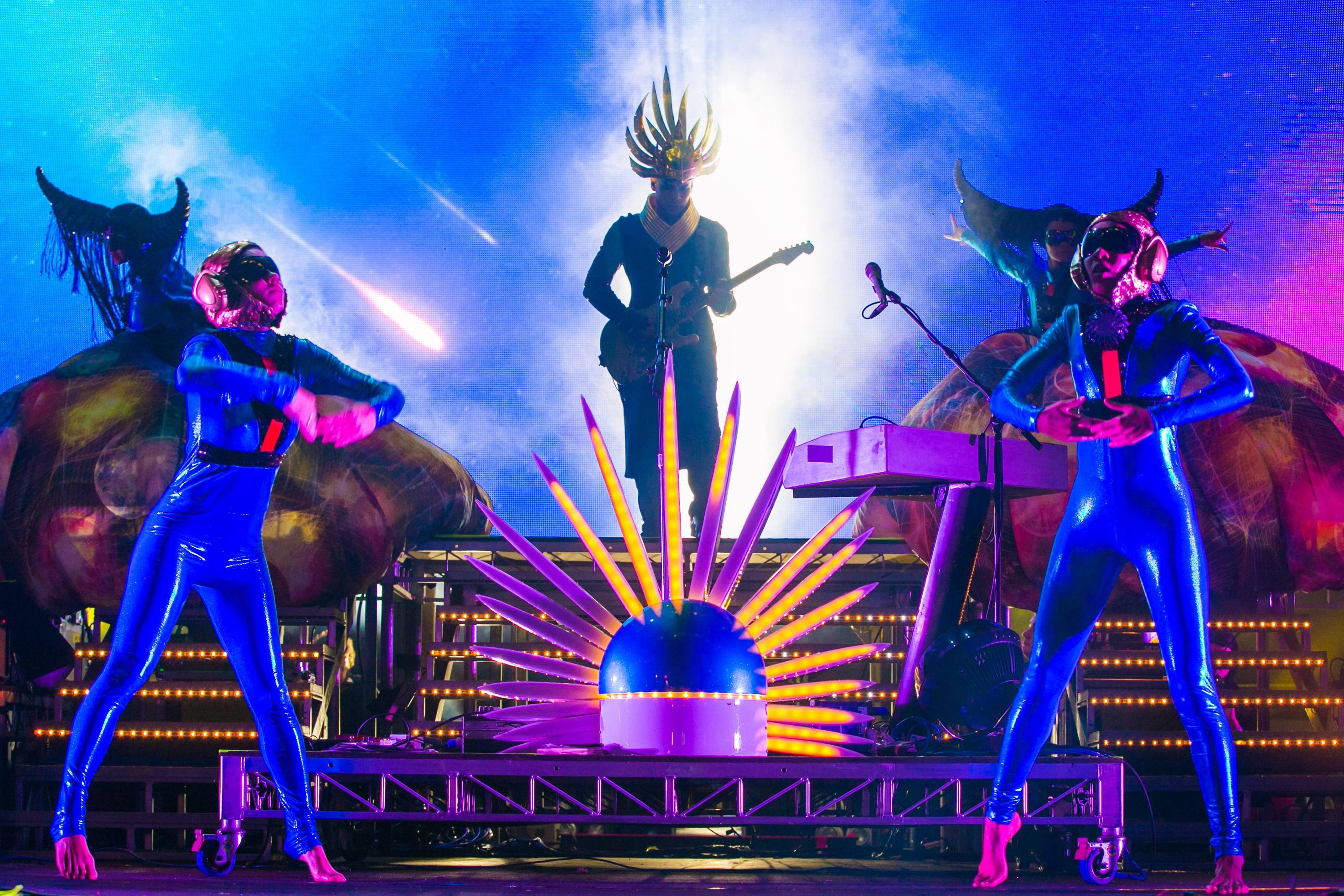 Empire Of The Sun stunned the crowd with their theatrics and power vocals.