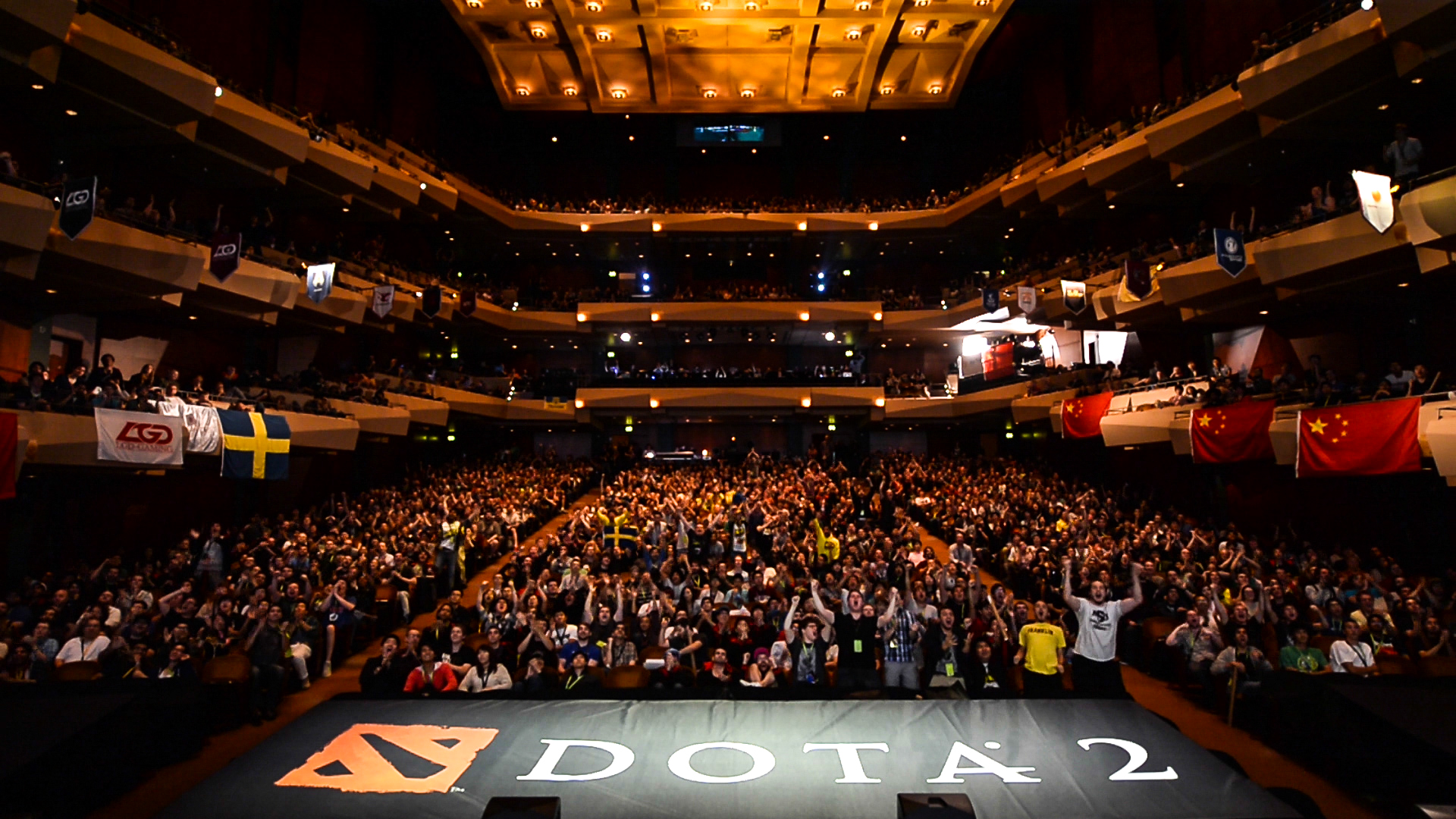 The final day of The International at the Benaroya Hall in Seattle, Washington, from August 7 to 11.
