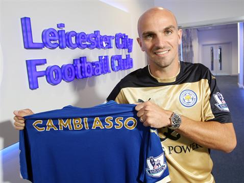 Former Inter Milan player Esteban Cambiasso joins the Foxes.