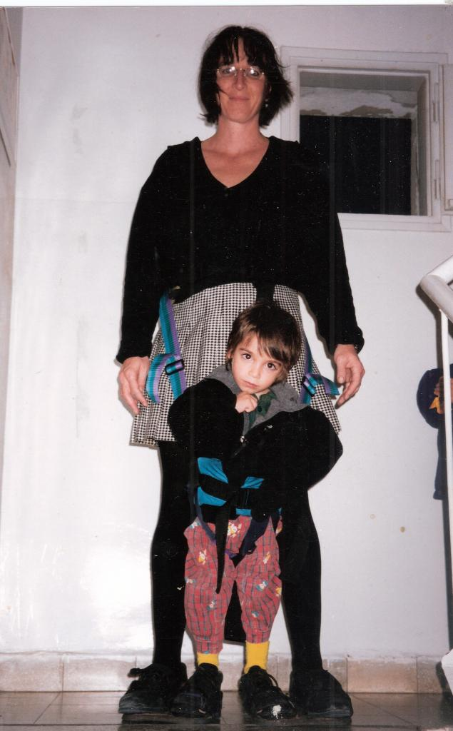 Debby Elnatan invented this device so she could take walks with her son who has cerebral palsy.