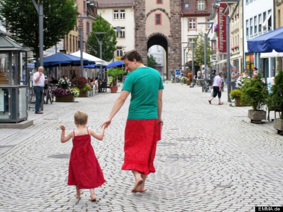 Nils Pickert's son prefers wearing skirts and dresses instead of pants. Instead of forcing him to wear pants, the father started wearing skirts as well to support the boy's decision.