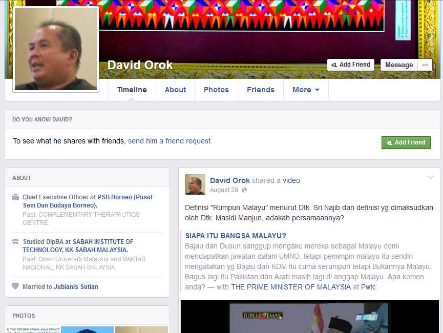 David Orok allegedly published a Facebook post deemed insulting to Islam and the Prophet Muhammad.