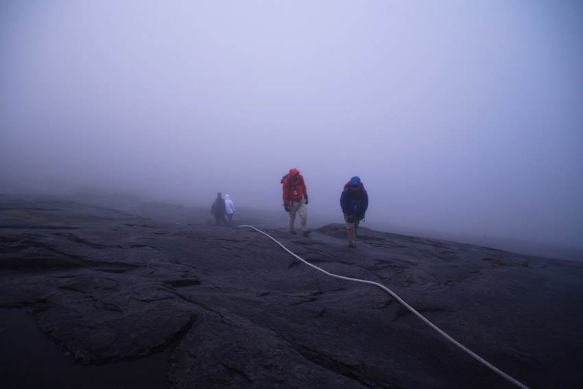 Bad weather in Mount Kinabalu. Picture for illustration purposes only.